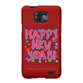 Happy New Year with Fun Dots Galaxy S2 Case