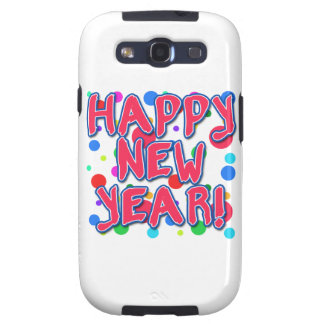 Happy New Year with Fun Dots Galaxy S3 Case