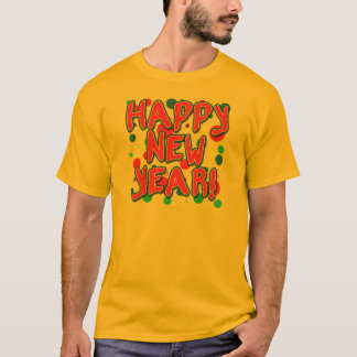 Happy New Year with Fun Dots T-Shirt