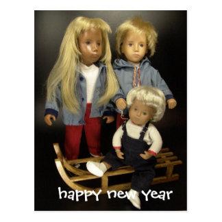 happy new year with Sasha Postcard