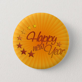 Happy New Year with starlight Button