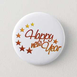 Happy New Year with starlight Pinback Button