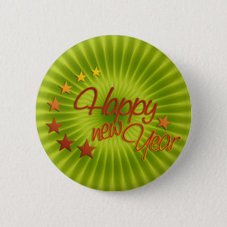 HAPPY NEW YEAR with starlight + your background Pinback Button