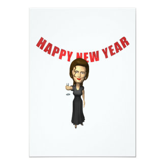 Happy New Year Woman Personalized Invitation