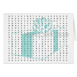 Word Search Note Cards | Zazzle