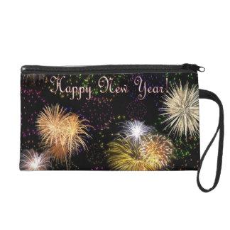 Happy  New Year Wristlet