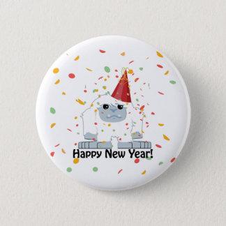 Happy New Year Yeti Button