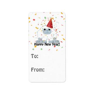Happy New Year Yeti Label