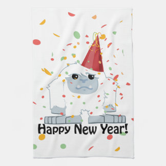 Happy New Year Yeti Towel