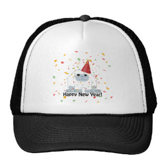 Happy New year Yeti Trucker Hat