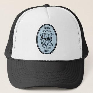 Happy New Year You Drunk Pricks Blue Trucker Hat