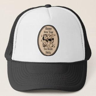Happy New Year You Drunk Pricks Orange Trucker Hat
