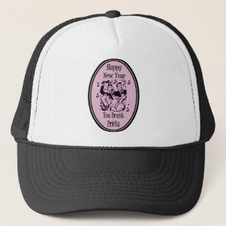 Happy New Year You Drunk Pricks Pink Trucker Hat