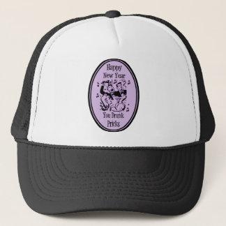 Happy New Year You Drunk Pricks Purple Trucker Hat