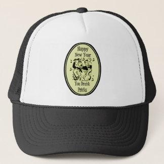 Happy New Year You Drunk Pricks Yellow Trucker Hat