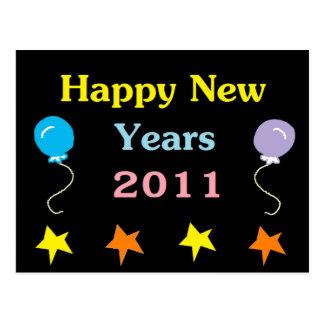 Happy New Years 2011 Postcard