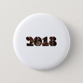 Happy New Years 2018 Vintage Men Women Pinback Button