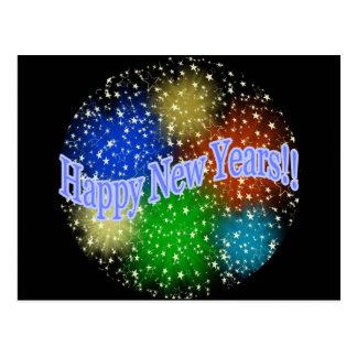 Happy New Years 2 Postcard