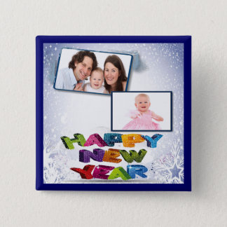 Happy New Year's Add Your Photo Pinback Button