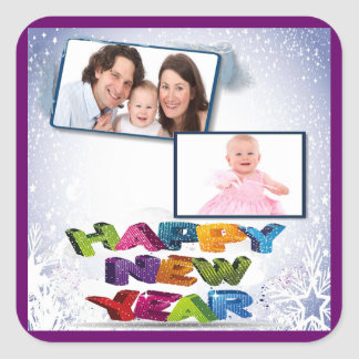 Happy New Year's Add Your Photo Sticker