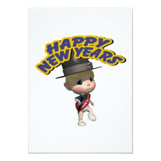 Happy New Years Baby Custom Invite