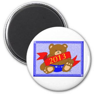 Happy New Year's Bear - 2013 Magnet