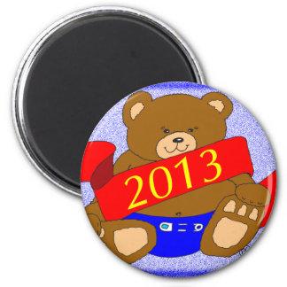 Happy New Year's Bear - 2013 Fridge Magnets