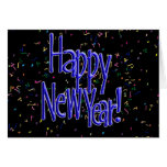 Happy New Years Blue Text Card