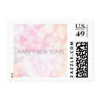 Happy New Years Bokeh Stamp