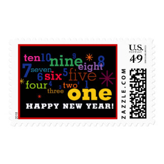 Happy New Years Count Down Stamp