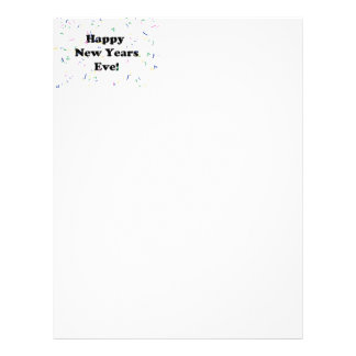 Happy New Year's Eve Letterhead Template