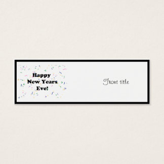 Happy New Year's Eve Mini Business Card