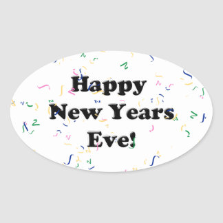Happy New Year's Eve Oval Sticker
