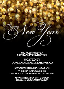 New Year Party Invitations Zazzle