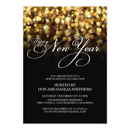 happy new years eve party invitation