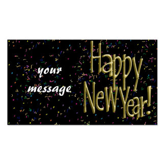 Happy New Years Gold Text Double-Sided Standard Business Cards (Pack Of 100)