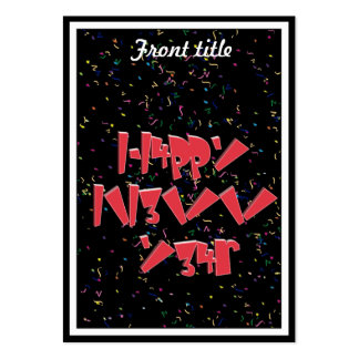 Happy New Years LEET Large Business Cards (Pack Of 100)