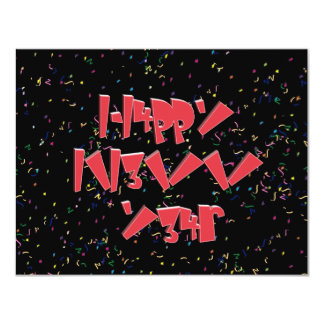 Happy New Years LEET Custom Invitation