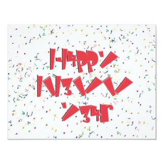 Happy New Years LEET Custom Invitations