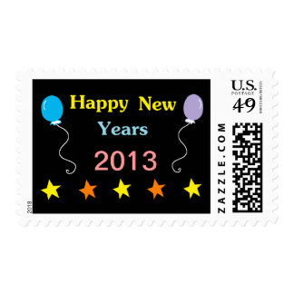 Happy New Years Postage Stamp