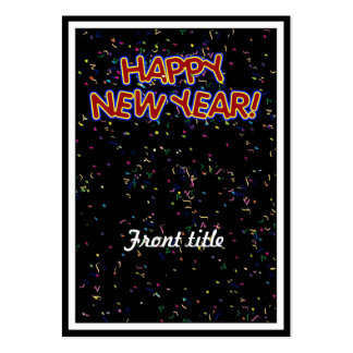 Happy New Year's Text with Confetti Large Business Cards (Pack Of 100)