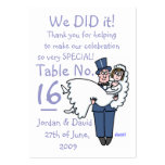 Happy Newlyweds Reception Table Place Card
