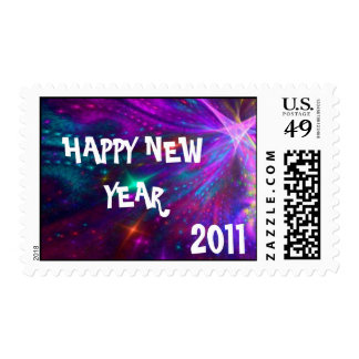 HAPPY NEWYEAR, 2011 postage stamp