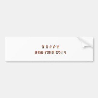 HAPPY NEWYEAR 2014 CAR BUMPER STICKER