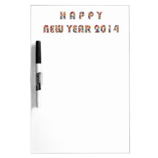 HAPPY NEWYEAR 2014 Dry-Erase WHITEBOARDS