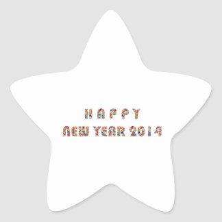 HAPPY NEWYEAR 2014 STAR STICKER