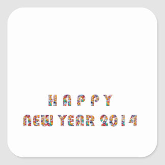 HAPPY NEWYEAR 2014 SQUARE STICKER
