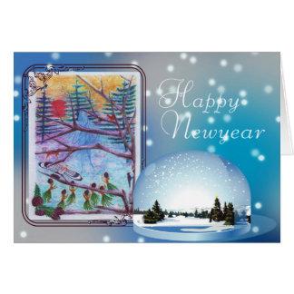 Happy , Newyear Greeting Card