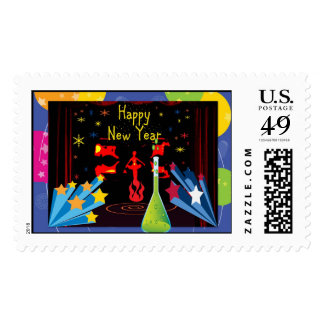 happy newyear postage stamps