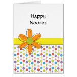 Happy Nooroz Persian New Year Greeting Card-Flower